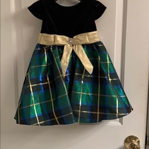 NWT-Toddler Girl Rare Editions Fit-And-Flare Dress